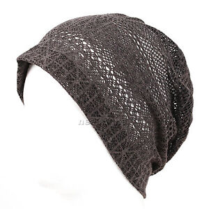 7604d5e7396 Image is loading womens-SUMMER-BEANIE-hat-slouchy-beanie-beenie-cap-