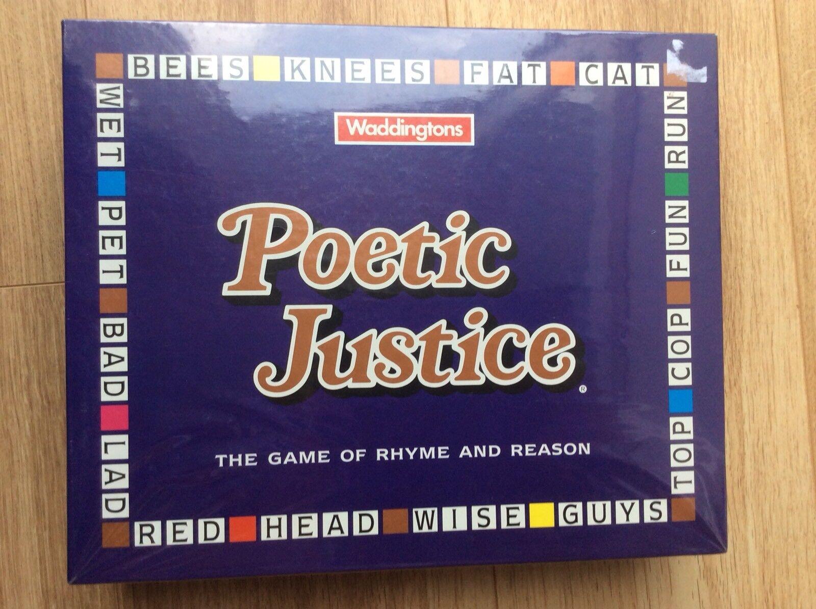 GIUSTIZIA poetica Board Game NUOVO SIGILLATO