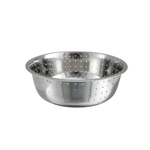 13-Inch Stainless Steel Chinese Colander with 5 mm Holes Winco CCOD-13L