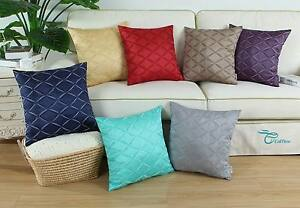 CaliTime-Cushion-Cover-Pillow-Cases-Diamond-Chains-Geometric-Embroidery-18-X-18-034