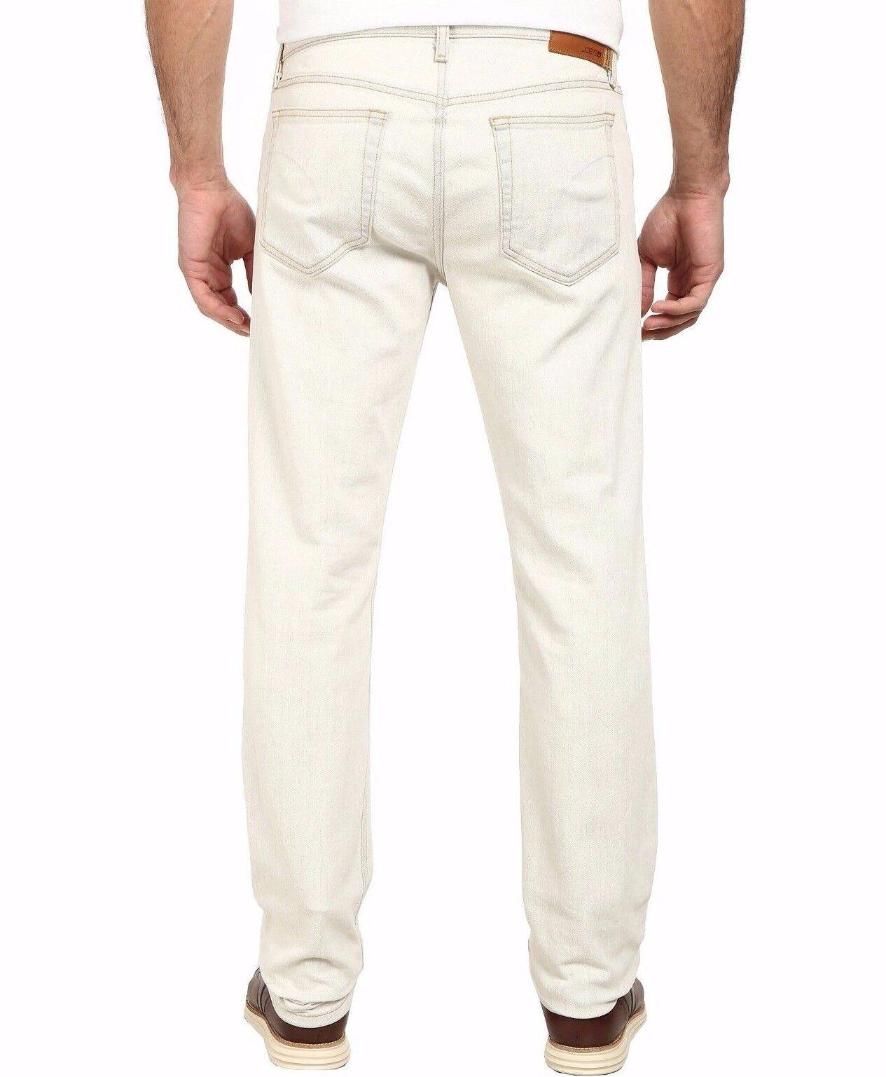 Nwt JOE´S Sz33 der Brixton Gerade + Schmal Jeans Stretch Eierschale Weiß