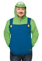 Licensed Nintendo Super Luigi Costume Hoodie Brand Express Shipping