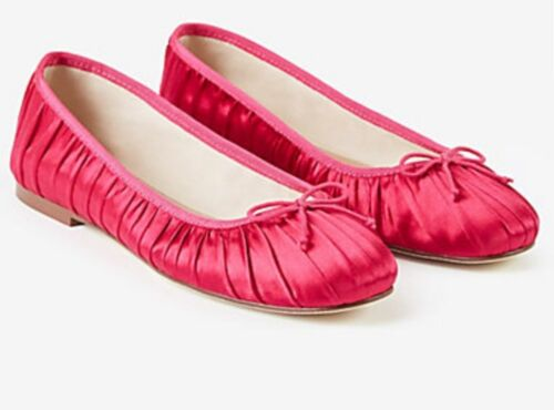 8.5 ANN TAYLOR Emery Satin Ballet Flat 7.5  .8