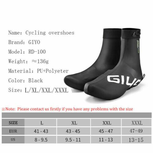 GIYO Winter Cycling Shoe Covers Racing Cycling Overshoes Waterproof Shoe Covers