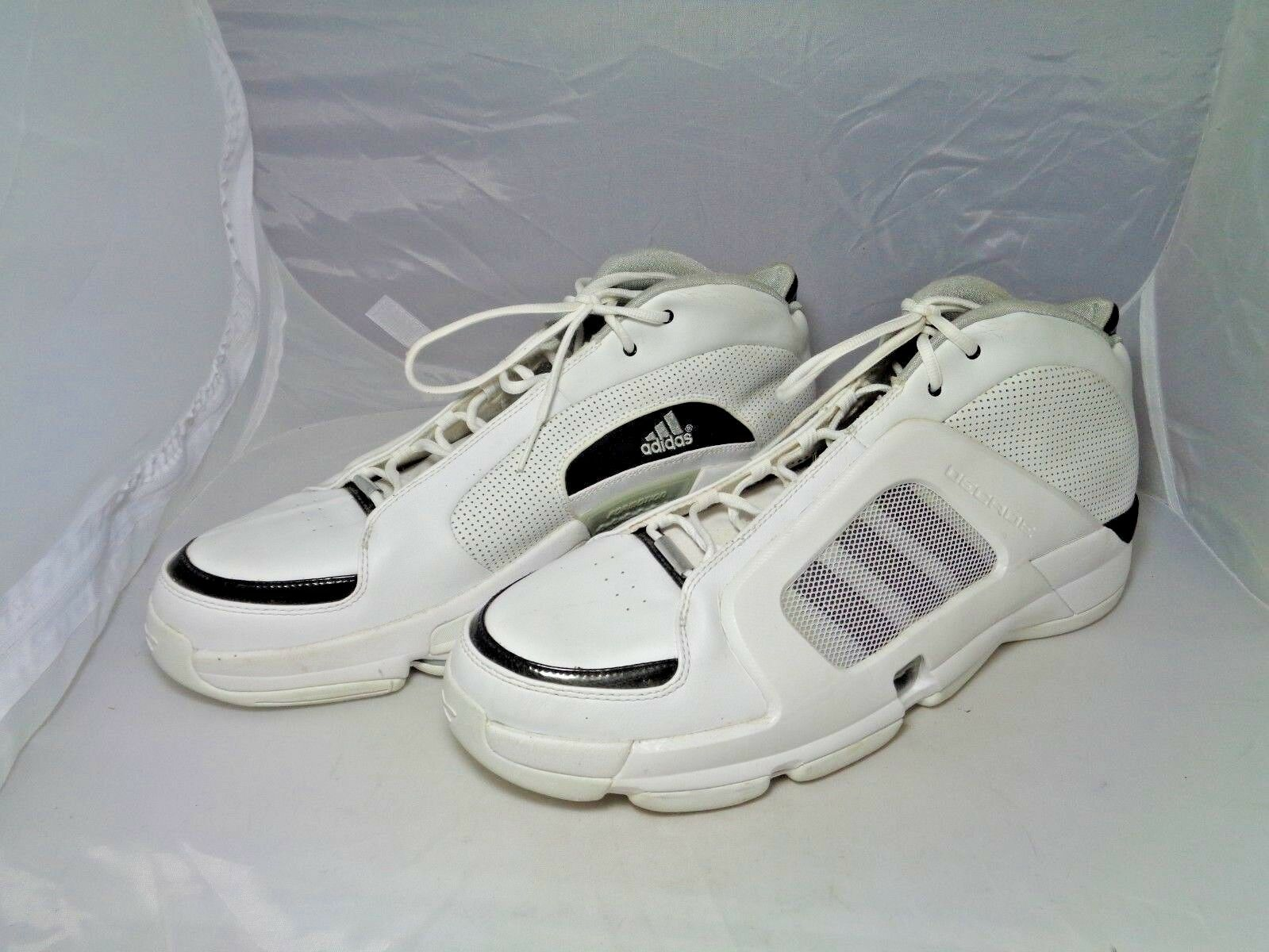 Adidas White and Black Basketball Shoes Size 19 - EUC