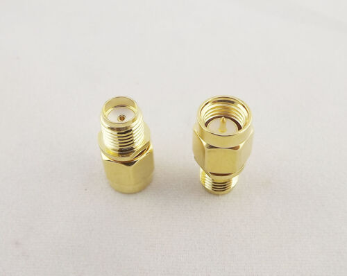 50pcs SMA Male Plug to SMA Female Jack In Serie Straight RF Adapter Connector