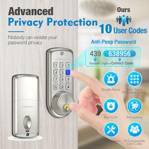 Electronic Smart Deadbolt Lock Keyless Metal Entry Door Security Code Door Locks