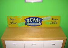 REVAL Werbe Schild Zigaretten Neon Leucht Reklame Glas Email Emaille 50 60 70 er