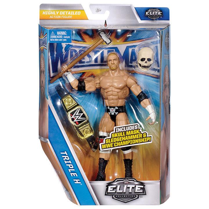 Wwe Elite Triple H Wrestlehommeia 33 Séries Lutte  Mattel Figurine Articulée  en ligne pas cher