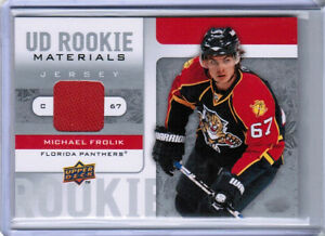 cheap for discount 8ce94 97333 Details about 08/09 UD SERIES 2 MICHAEL FROLIK ROOKIE MATERIALS JERSEY  FLORIDA PANTHERS