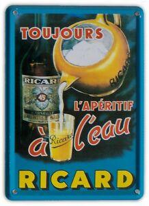 RICARD-TOUJOURS-Small-Vintage-Metal-Tin-Pub-Sign