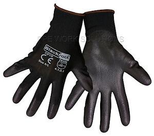 50-x-Pairs-Of-Blackrock-Lightweight-Grip-Black-PU-Safety-Work-Gloves-84301