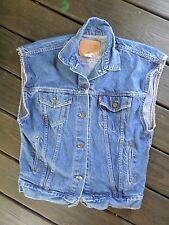 LEVIS true vintage made USA denim jean jacket vest SMALL