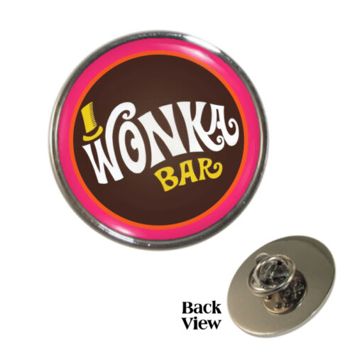 Retro Movie Chocolate Bar Pin Badge chocoholic Brand New