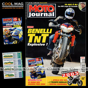 MOTO-JOURNAL-N-1612-GUZZI-1100-CALIFORNIA-BENELLI-TNT-1130-GUIDE-MOTOGP-2004