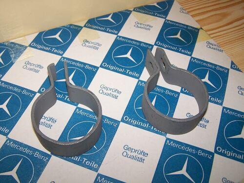Mercedes Unimog 404 Rohrschellen für Auspuffrohre an Schalldämpfer 2 Stück NEU