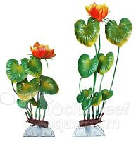 Aquaflora Orange Lily Plastic Anchor Aquarium Plant Decoration 8 Or 11