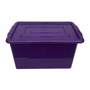 Merveilleux Image Is Loading PURPLE PLASTIC MEDIUM 32L LITRE STORAGE BOX TUB