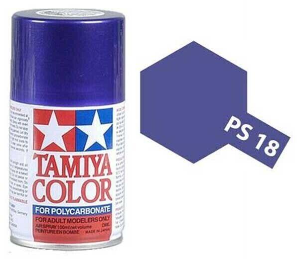 Tamiya PS-18 Metalic Purple Polycarbanate Spray Paint 100ml #86018  Tamiya