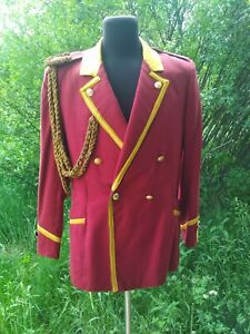 Military-USSR-Army-Musicant-Tunic-Uniform-Jacket-Size-M