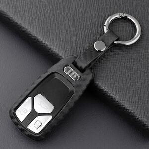 For New Audi A4 B9 A5 Q7 TT Accessories Car Key Fob Cover Case Holder Black