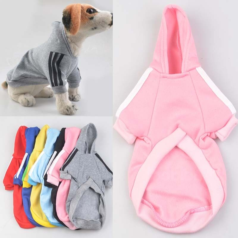 Small Pet Dog Cat Puppy Sweater Hoodie Coat Clothes Puppy Warm Costume Apparel
