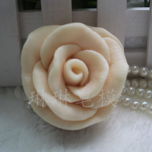 3D Craft Silicone Soap Mold Candle Soap Making Mold Handmade Mold Rose Flower