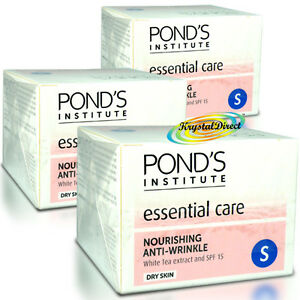 3x-Ponds-Anti-Wrinkle-Nourishing-White-Tea-Extract-Dry-Skin-Face-Cream-SPF15
