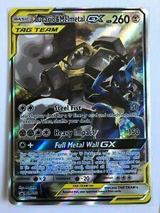 Lucario-amp-Melmetal-GX-ALT-FULL-ART-TT-Ultra-Rare-SM192-Unbroken-Bonds-Pokemon-NM