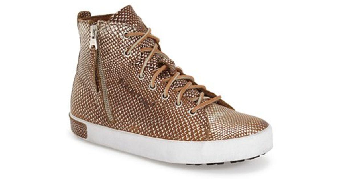 Womens Blackstone Booties KL-62 High top Leather Lace Zip Sneakers Brown 38 EU 8