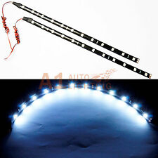 """2x NEW 30cm/12"""" White LED Strip Footwell Under Dash Light Waterproof Exterior"""