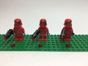 LEGO-3-Minifigures-Star-Wars-SW1065-Sith-Trooper-Episode-9-Blaster-NEUF-NEW