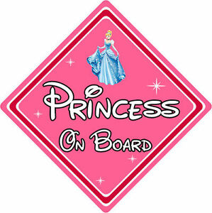 Disney Princess On Board Car Sign Baby On Board Car Sign Cinderella