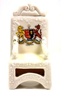 VINTAGE-CRESTED-CHINA-CHESTER-THRONE-CHAIR-BRITISH-ART-POTTERY-RIA-LTD-FENTON