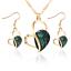 Women-Heart-Pendant-Choker-Chain-Crystal-Rhinestone-Necklace-Earring-Jewelry-Set thumbnail 3