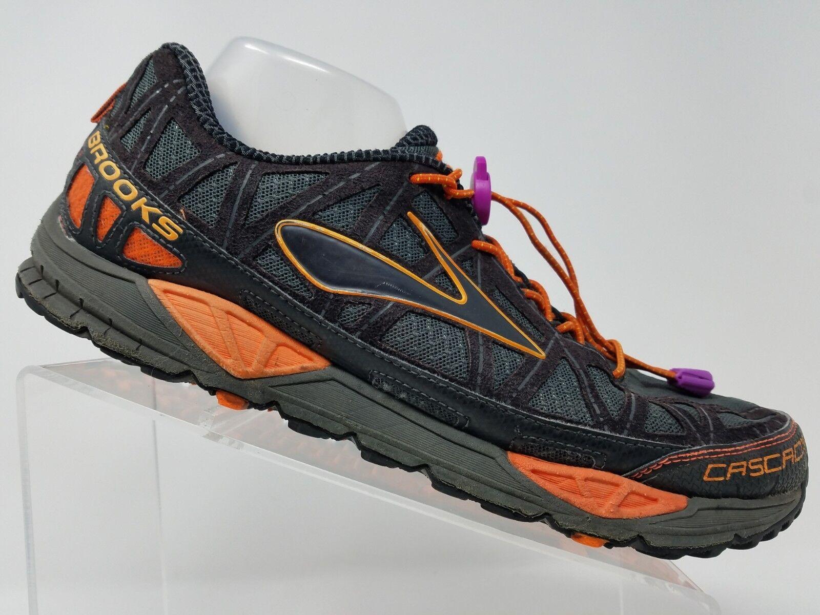 Brooks Cascadia 8 Mens Trail Running shoes Size 12.5 Black orange Training