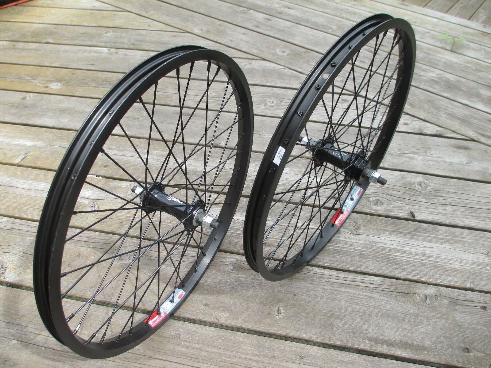 Wheel Set F&R BMX 3 8 axle 20x1.75 Wei 519 Bolt On Alloy Hubs 36H F W or No F W