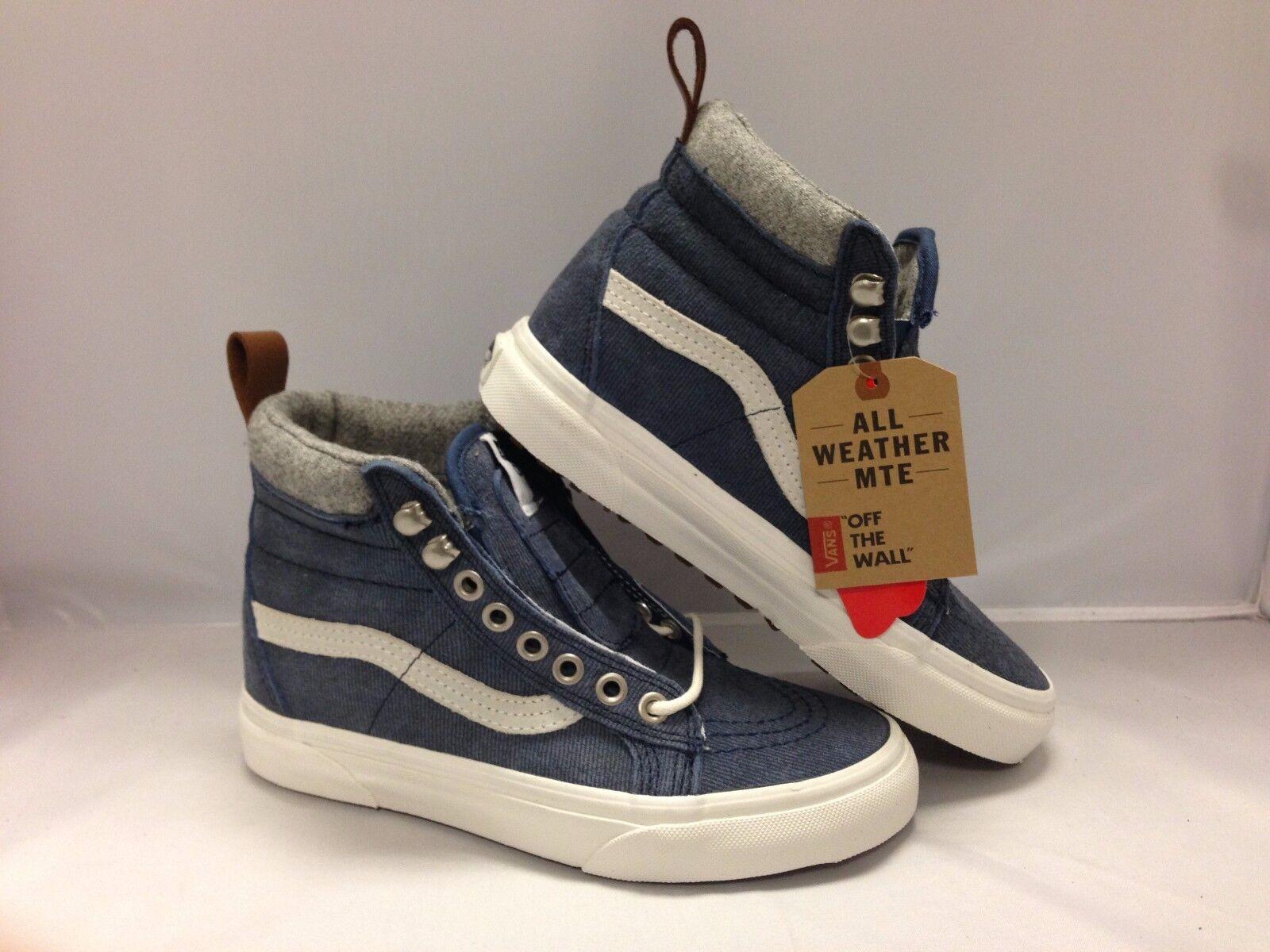 Vans Men's shoes  Sk8-Hi''--(MTE)--Deinm Suede bluee