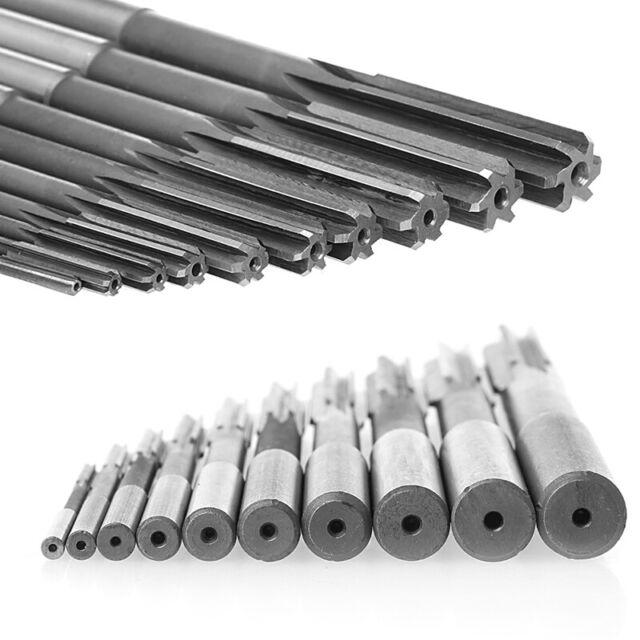 Set Of 3//4//5//6//7//8//9//10//11//12mm Straight Shank HSS Chucking Machine Reamer Drill