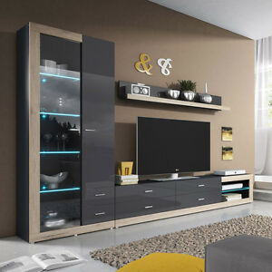 Wall Unit TESSA 09 Living Room Furniture RTV Cabinet Display ...