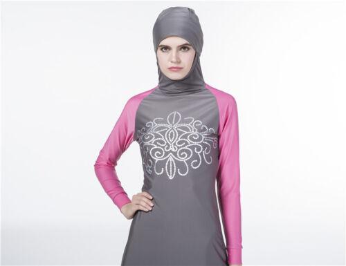Women  Islamic Muslim Full Cover Costumes  Swimwear Swimming Burkini Arab Cloth