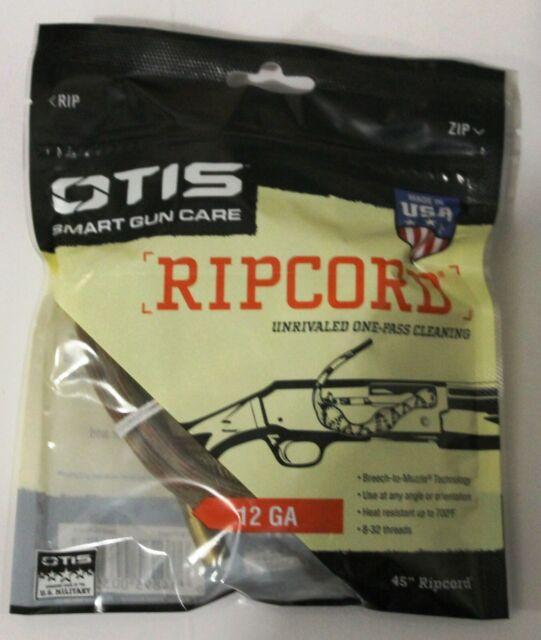 """OTIS 12ga 45"""" Ripcord Rifle Bore Cleaning Pull Through 12 Gauge Shotgun"""