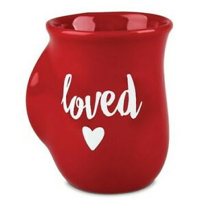 Loved-Handwarmer-Mug-Red