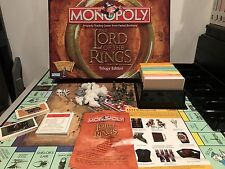 Monopoly LOTR The Lord of The Rings TRILOGY Edition Complete Board Game GREAT!