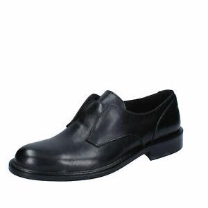 BARCA scarpe uomo classiche eleganti casual color nero in pelle Made in Italy