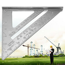 """Aluminum Alloy Tri Square Speed 7"""" Triangle Ruler Protractor Miter Framing HOT B"""