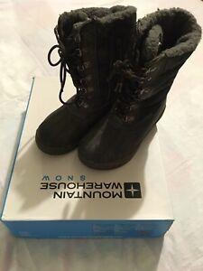 Mountain-Warehouse-Boys-Charcoal-Snow-Boots-Size-2-EU-34-Childs-Kids