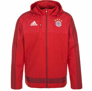 Sizes Travel Xl Bnwt Adidas Jacket Munich Rrp 3xl £85 Red Bayern Fc xw6q6XY