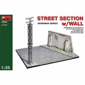 Strada-Sezione-con-Parete-1-3-5-Scala-Modello-Plastica-Kit-Miniart-MIN36052