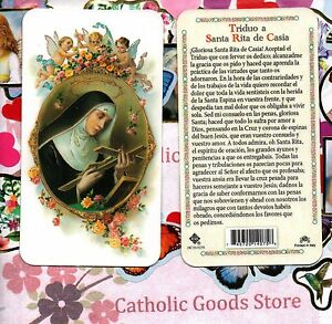 Triduo-a-Santa-Rita-de-Casia-Spanish-Plastic-Holy-Card